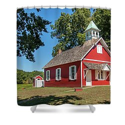 Shower Curtain featuring the photograph Little Red School House by Charles Kraus