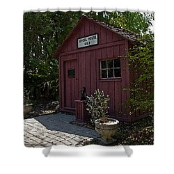 Little Red Schoolhouse Four Shower Curtain by Allan  Hughes