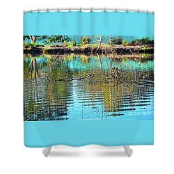 Shower Curtain featuring the photograph Little Ripples By Kaye Menner by Kaye Menner