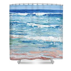 Little Riptides Shower Curtain by Trina Teele