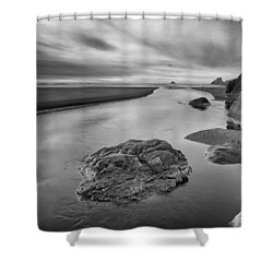 Little River In Infrared 3 Shower Curtain