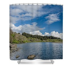 Little River In Spring Shower Curtain