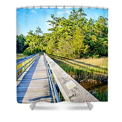 Little River Marsh Shower Curtain by David Smith