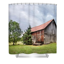 Shower Curtain featuring the photograph Little Rustic Barn, Adirondacks by Gary Heller
