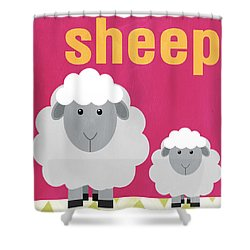 Little Sheep Shower Curtain by Linda Woods