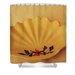 Little Shell Plate Shower Curtain
