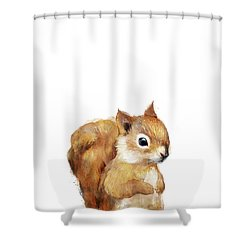 Little Squirrel Shower Curtain by Amy Hamilton