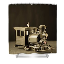 Shower Curtain featuring the photograph Little Steam Locomotive by Edward Fielding