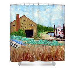 Little Toot Tug Boat Shower Curtain