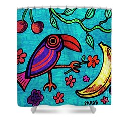 Little Toucan Shower Curtain by Sarah Loft
