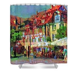 Little Town Shower Curtain