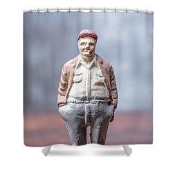 Little Toy Man Shower Curtain
