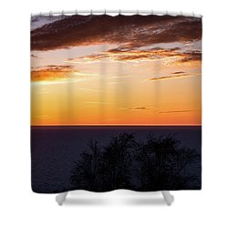Shower Curtain featuring the photograph Little Traverse Bay Sunset by Onyonet  Photo Studios