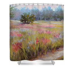 Little Tree Road Shower Curtain