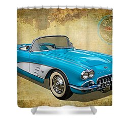 Little Vette Shower Curtain