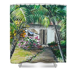 Little West Indian House 2...sold Shower Curtain by Karin  Dawn Kelshall- Best