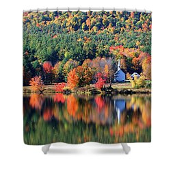 'little White Church', Eaton, Nh	 Shower Curtain