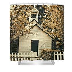 Little White Church Shower Curtain
