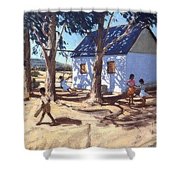 Little White House Karoo South Africa Shower Curtain by Andrew Macara
