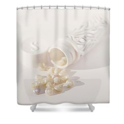 Shower Curtain featuring the photograph Little White Seashells by Cindy Garber Iverson