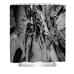 Little Wild Horse Canyon Bw Shower Curtain