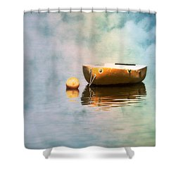 Little Yellow Boat Shower Curtain