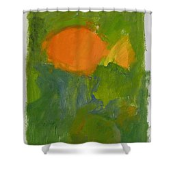 Shower Curtain featuring the painting Little Yellowtail  by Cliff Spohn