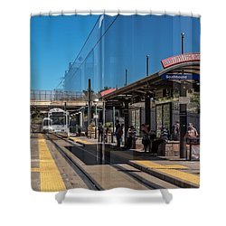 Littleton Rtd Light Rail Station Shower Curtain