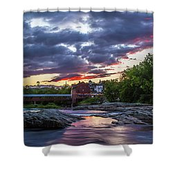 Littleton Sunset On The Rocks Shower Curtain