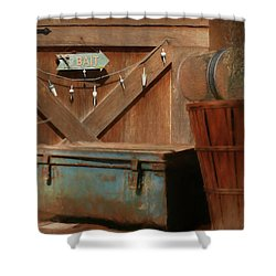 Shower Curtain featuring the photograph Live Bait by Lori Deiter