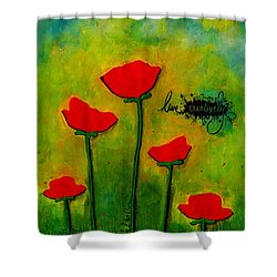 Live Creatively Shower Curtain by Angela L Walker
