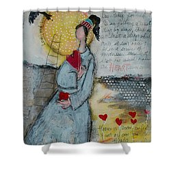 Live Joyfully  Shower Curtain