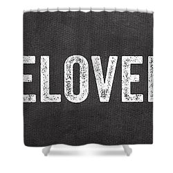 Live Love Bake Shower Curtain by Linda Woods