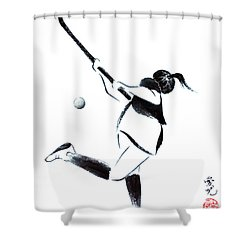 Live, Love, Play Field Hockey Shower Curtain