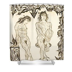 Live Nude 10 Female Shower Curtain