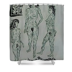 Live Nude 41 Female Shower Curtain