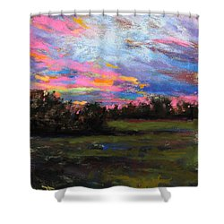 Live Oak Evening Shower Curtain