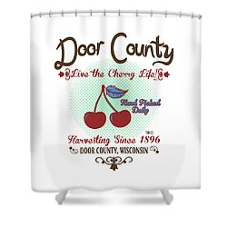 Shower Curtain featuring the digital art Live The Cherry Life by Tracy Andropolis