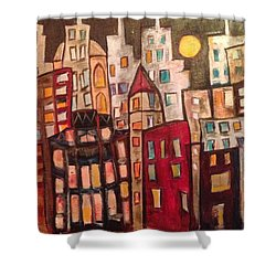 Lively City Skyline Shower Curtain