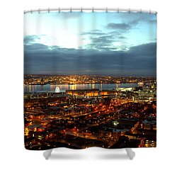 Liverpool City And River Mersey Shower Curtain