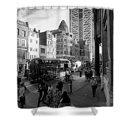 Shower Curtain featuring the photograph Liverpool Street  by Gary Bridger