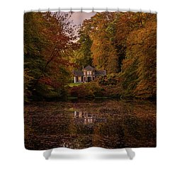 Living Between Autumn Colors Shower Curtain