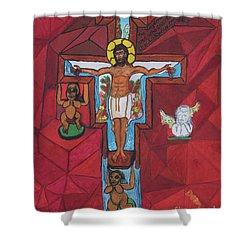 Living Christ Ascending Shower Curtain
