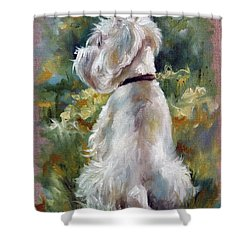 Living Color Shower Curtain by Mary Sparrow