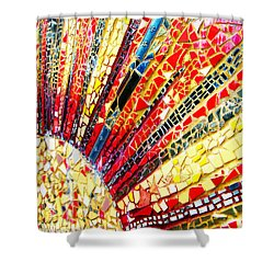 Living Edgewater Mosaic Shower Curtain