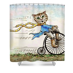 Shower Curtain featuring the painting Living Flamboyantly by Retta Stephenson