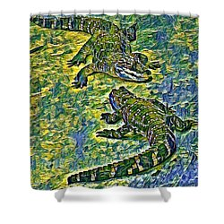 Living Fossils  Shower Curtain
