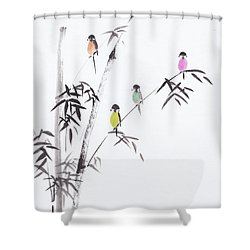Living In Harmony Shower Curtain