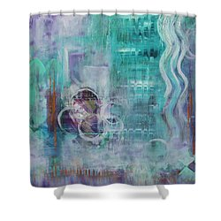 Shower Curtain featuring the painting Living In The Mystery by Jocelyn Friis