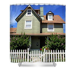 Shower Curtain featuring the photograph Living On Beach Haven by John Rizzuto